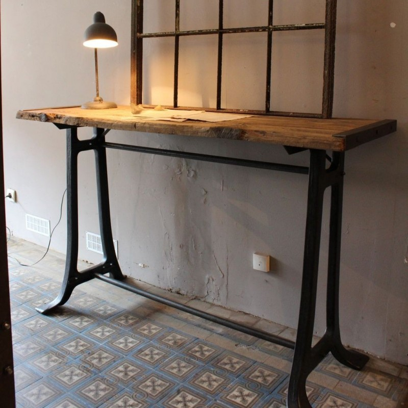 mobilier industriel console industrielle. Black Bedroom Furniture Sets. Home Design Ideas