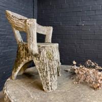 Concrete garden furniture in tree style