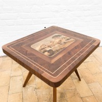 Wood and marquetry coffee table