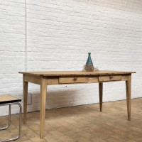 French wooden farm table