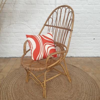 Rattan armchair 1950