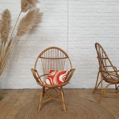 Vintage rattan armchair 1950