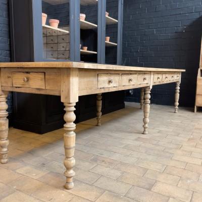 Oak monastery table circa 1930
