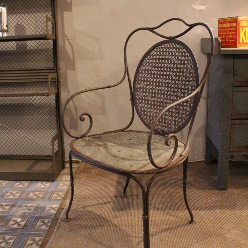 Old Metal Garden Chair 30s