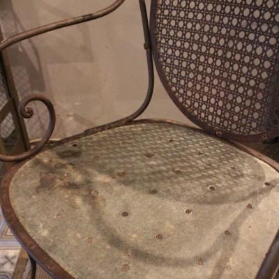 mobilier industriel ancien fauteuil de jardin en m tal. Black Bedroom Furniture Sets. Home Design Ideas