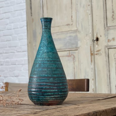 French ceramic vase Accolay 1950