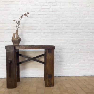 Wooden blacksmith's workbench