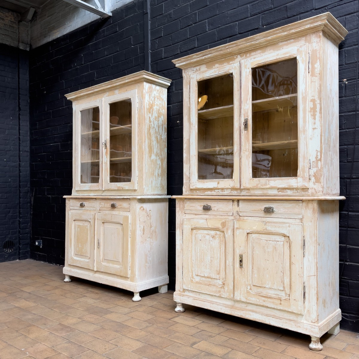 Pair of french buffet deux-corps