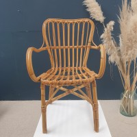 rattan and bamboo armchair
