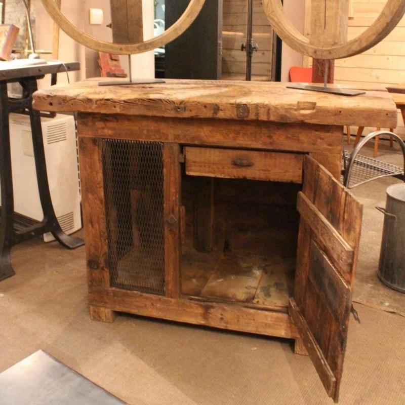 mobilier industriel ancien tabli d 39 atelier m tal et bois. Black Bedroom Furniture Sets. Home Design Ideas