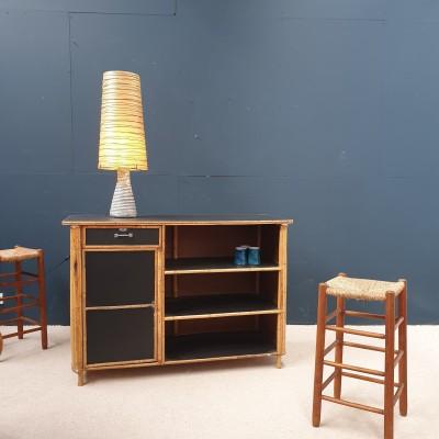 Bamboo and rattan bar design 1950