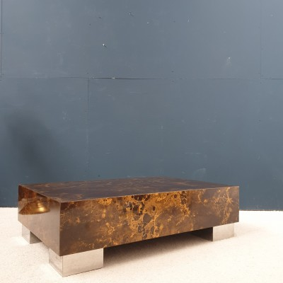 coffee table design 1970 by Guy LEFEVRE