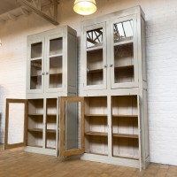 Pair of large hardware display cases