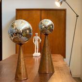 Paire d'éléments de décoration verte et cuivre => www.ma-petite-boutique.fr