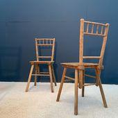 Série de 4 chaises disponibles sur notre site - www.ma-petite-boutique.fr / 360 EUROS la série.