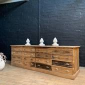 Ancien meuble de mercerie - 266 x 80 x 86 cm - www.ma-petite-boutique.fr