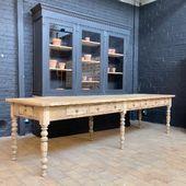 🥚Grande table de monastère en chêne 316 x87.5 x h 79 cm - disponible que notre site 🥚