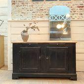 Buffet en bois 2 portes 156 x 90 x 51.5 cm - www.ma-petite-boutique.fr