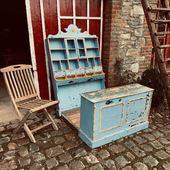 Ancien comptoir bois pour enfant -