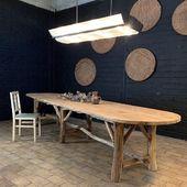 Grande table en bois / disponible sur notre site !!