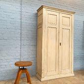 ✅Jolie armoire en chêne dans sa patine d'origine -202 x 117 x 43.5 cm - www.ma-petite-boutique.fr ✅