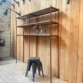 🌼Ancienne étagère de fleuriste métal et bois -197 x 197 x p35 cm🌼 ————————————————- Disponible sur www.ma-petite-boutique.fr