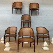 Série de 6 fauteuils cannés - www.ma-petite-boutique.fr