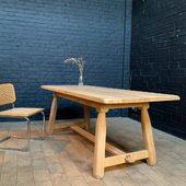Ancienne table en chêne - 200 x 85 x h76 cm - www.ma-petite-boutique.fr