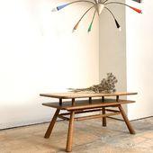Table basse en chêne 1950  108 x 60 x h50cm.