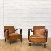 Paire de fauteuils des années 30 - www.ma-petite-boutique.fr