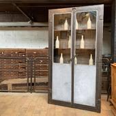 ⭐️Ancienne vitrine industrielle - 213 x 113 x p37 cm - disponible sur notre site⭐️
