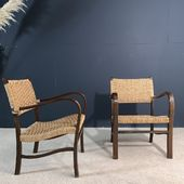 Paire de fauteuils cordes 1960 => www.ma-petite-boutique.fr