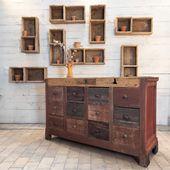 Ancien comptoir en bois - plus d'infos sur www.ma-petite-boutique.de