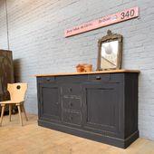 Ancien meuble d'atelier en bois - 171 x 48.5 x h93 cm - www.ma-petite-boutique.fr