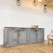Grand meuble de métier en bois - 280 x 69.5 x 103 cm - www.ma-petite-boutique.fr