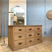 Bon dimanche à tous - joli comptoir en chêne 9 tiroirs. Disponible sur notre site