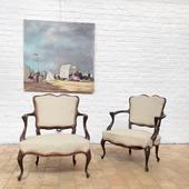 Paire de fauteuils des années 40 - disponible sur www.ma-petite-boutique.fr