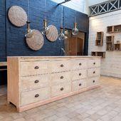 🌸Superbe patine d'origine pour ce grand meuble de commerce à tiroirs - disponible sur notre site 🌸