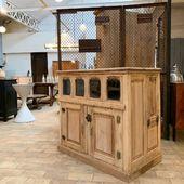 Ancien meuble de boucherie en chêne - 111 x 63 x H103 cm - disponible sur www.ma-petite-boutique.fr