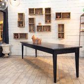Grande table de ferme en bois -268 x 85 x h76 cm - disponible sur notre site