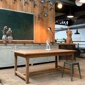 Ancienne table de ferme en chêne - 177 x 95 x h74 cm  www.ma-petite-boutique.fr