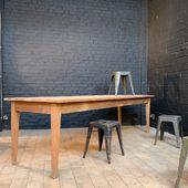 Grande table de ferme en bois - 268 x 85 x h75.5 cm - www.ma-petite-boutique.fr